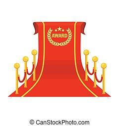 Una gran alfombra roja