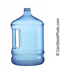 Una gran botella de agua aislada