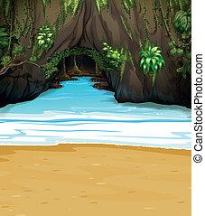 Una gran cueva