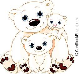 Una gran familia de osos polares