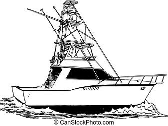 Una gran torre de pescador deportivo