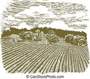 Una granja en la autopista 60