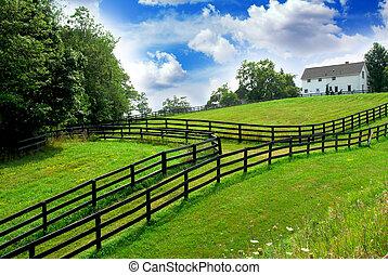 Una granja rural
