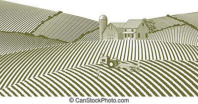 Una granja sin cielo