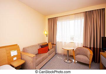 Una habitación cómoda en el hotel