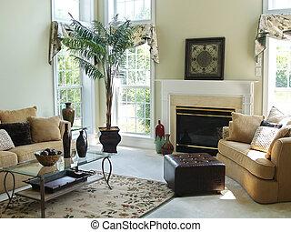 Una habitación familiar cómoda