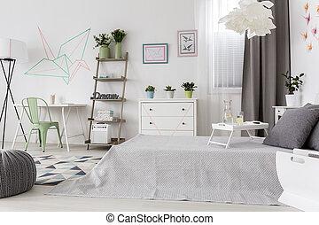 Una habitación muy cómoda