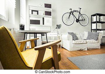Una habitación sencilla y cómoda