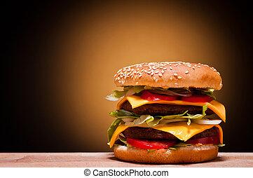 Una hamburguesa grande