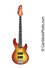 Una hermosa guitarra eléctrica roja