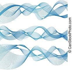 Una hermosa ola abstracta
