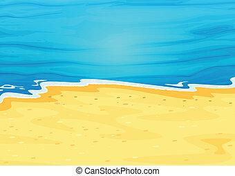 Una hermosa vista de la playa