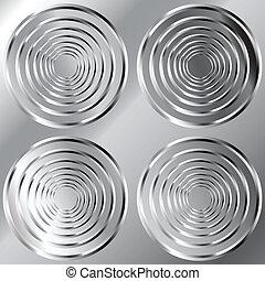 Una huella de metal circular sin cortes