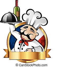 Una ilustración alegre del chef