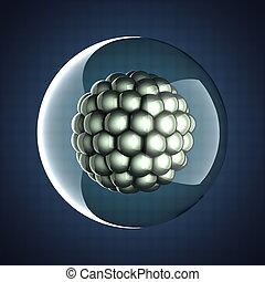 Una ilustración científica de micro células