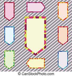 Una ilustración de estandartes corlorosos abstractos
