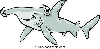 Una ilustración de tiburones martillo