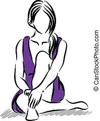 Una ilustración femenina