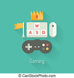Una ilustración plana de juego