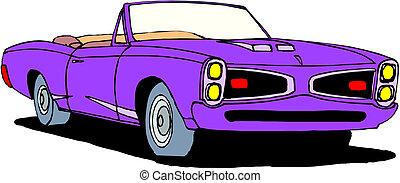 Una ilustración vectora del auto