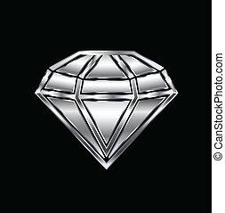Una imagen de diamante. Concepto el lujo