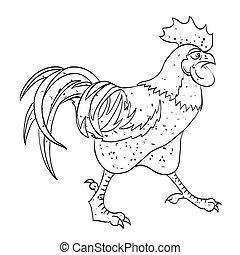 Una imagen de gallo