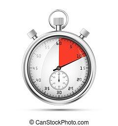 Una imagen realista de un cronómetro deportivo. Competencia de símbolos. Icon