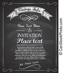 Una invitación a mano dibujada