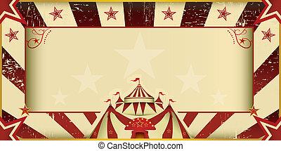 Una invitación fantástica del circo grunge