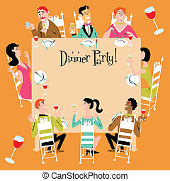 Una invitación para la cena