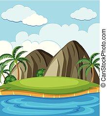 Una isla llena de recursos naturales