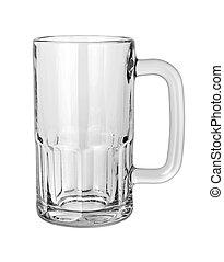 Una jarra de cerveza vacía