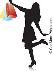 Una joven de compras