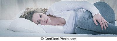 Una joven deprimida