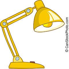 Una lámpara de cartón