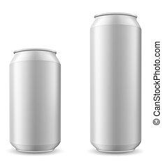 Una lata de cerveza de ilustración vectorial