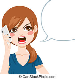 Una llamada enojada