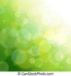 Una luz abstracta verde.