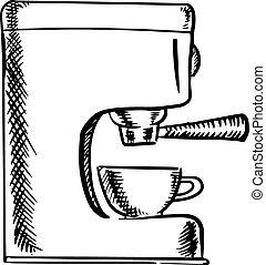 Una máquina de café expreso