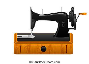 Una máquina de coser