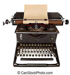 Una máquina de escribir