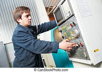 Una máquina de operaciones en el taller