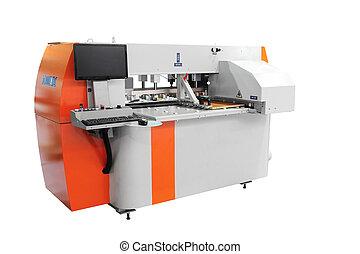 Una máquina de perforación CNC