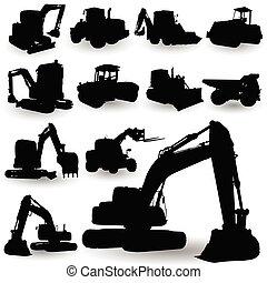 Una máquina de trabajo de construcción