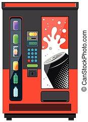 Una máquina expendedora con refrescos