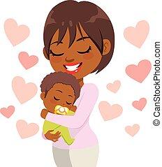 Una madre cariñosa