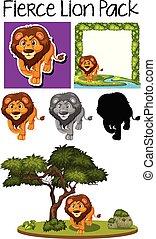 Una manada de lindos leones