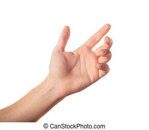 Una mano arriba