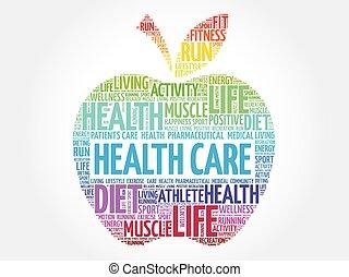 Una manzana colorida para la salud