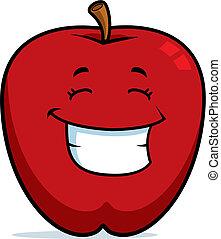 Una manzana sonriendo